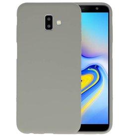 BackCover Hoesje Color Telefoonhoesje Samsung Galaxy J6 Plus - Grijs