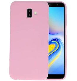 BackCover Hoesje Color Telefoonhoesje Samsung Galaxy J6 Plus - Roze