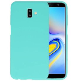 BackCover Hoesje Color Telefoonhoesje Samsung Galaxy J6 Plus - Turquoise