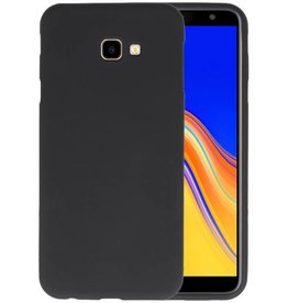 Color TPU Hoesje Samsung Galaxy J4 Plus Zwart