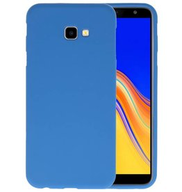 Color TPU Hoesje Samsung Galaxy J4 Plus Navy