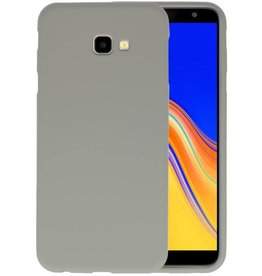 Color TPU Hoesje Samsung Galaxy J4 Plus Grijs