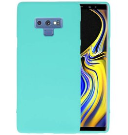 BackCover Hoesje Color Telefoonhoesje Samsung Galaxy Note 9 - Turquoise