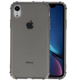Schokbestendig Back Cover Hoesje iPhone XR Grijs