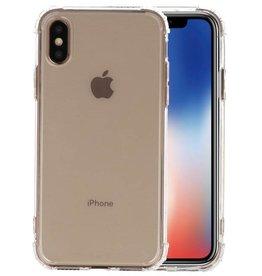Schokbestendig TPU hoesje iPhone XS Transparant