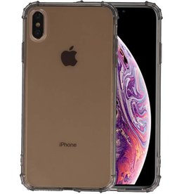 Schokbestendig Back Cover Hoesje iPhone XS Max Grijs