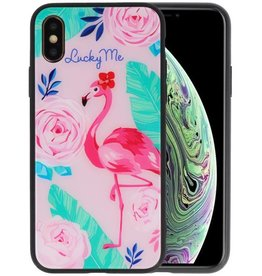 Print Hardcase iPhone XS Lucky Me  Flamingo