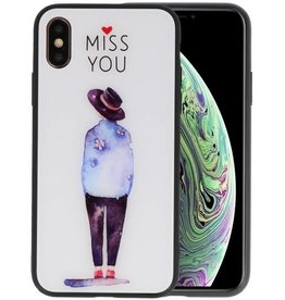 Print Hardcase iPhone XS Miss You