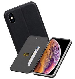 Slim Folio Case iPhone XS Max Zwart