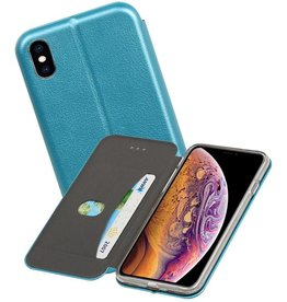 Slim Folio Case iPhone XS Max Blauw