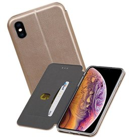 Slim Folio Case iPhone XS Max Goud