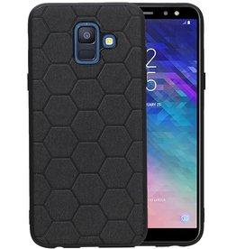 Hexagon Hard Case Samsung Galaxy A6 2018 Zwart