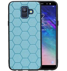 Hexagon Hard Case Samsung Galaxy A6 2018 Blauw