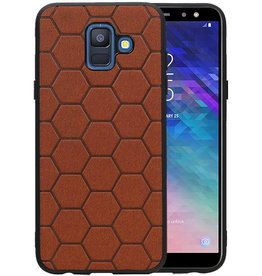 Hexagon Hard Case Samsung Galaxy A6 2018 Bruin