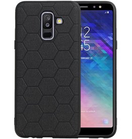 Hexagon Hard Case Samsung Galaxy A6 Plus 2018 Zwart