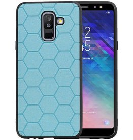 Hexagon Hard Case Samsung Galaxy A6 Plus 2018 Blauw