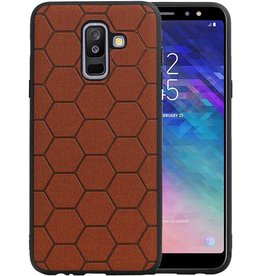 Hexagon Hard Case Samsung Galaxy A6 Plus 2018 Bruin
