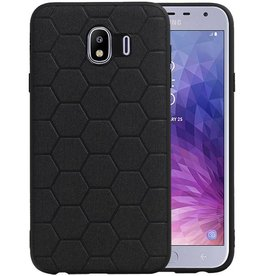 Hexagon Hard Case Samsung Galaxy J4 Zwart