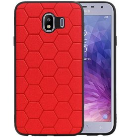 Hexagon Hard Case Samsung Galaxy J4 Rood