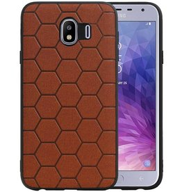 Hexagon Hard Case Samsung Galaxy J4 Bruin