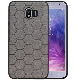 Hexagon Hard Case Samsung Galaxy J4 Grijs
