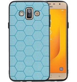 Hexagon Hard Case Samsung Galaxy J7 Duo Blauw