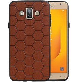 Hexagon Hard Case Samsung Galaxy J7 Duo Bruin