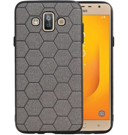 Hexagon Hard Case Samsung Galaxy J7 Duo Grijs