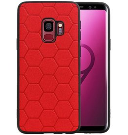 Hexagon Hard Case Samsung Galaxy S9 Rood