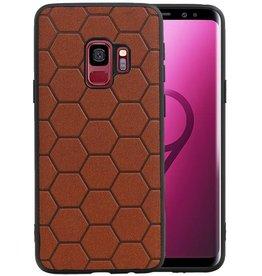 Hexagon Hard Case Samsung Galaxy S9 Bruin
