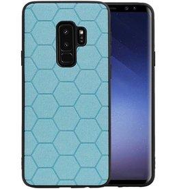 Hexagon Hard Case Samsung Galaxy S9 Plus Blauw