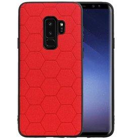 Hexagon Hard Case Samsung Galaxy S9 Plus Rood