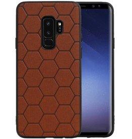 Hexagon Hard Case Samsung Galaxy S9 Plus Bruin