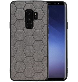 Hexagon Hard Case Samsung Galaxy S9 Plus Grijs
