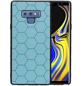 Hexagon Hard Case Samsung Galaxy Note 9 Blauw