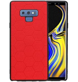 Hexagon Hard Case Samsung Galaxy Note 9 Rood
