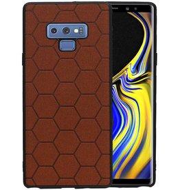 Hexagon Hard Case Samsung Galaxy Note 9 Bruin