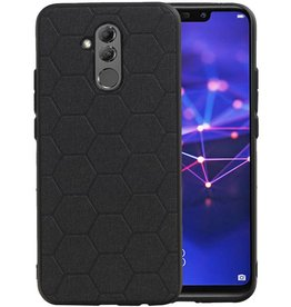 Hexagon Hard Case Huawei Mate 20 Lite Zwart