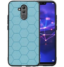 Hexagon Hard Case Huawei Mate 20 Lite Blauw