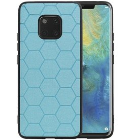 Hexagon Hard Case Huawei Mate 20 Pro Blauw