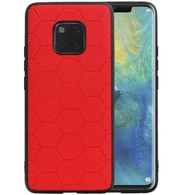 Hexagon Hard Case Huawei Mate 20 Pro Rood