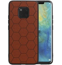 Hexagon Hard Case Huawei Mate 20 Pro Bruin