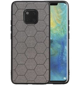 Hexagon Hard Case Huawei Mate 20 Pro Grijs