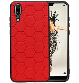 Hexagon Hard Case Huawei P20 Rood