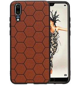 Hexagon Hard Case Huawei P20 Bruin