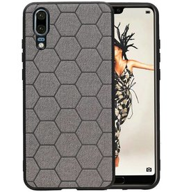 Hexagon Hard Case Huawei P20 Grijs
