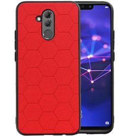 Hexagon Hard Case Huawei P20 Lite Rood