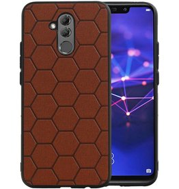Hexagon Hard Case Huawei P20 Lite Bruin