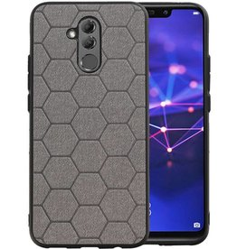 Hexagon Hard Case Huawei P20 Lite Grijs