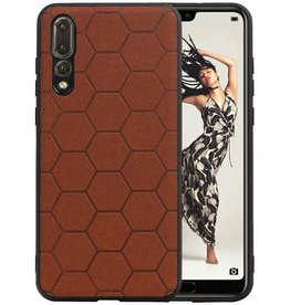 Hexagon Hard Case Huawei P20 Pro Bruin